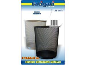 CESTINO GETTACARTE GETTA CARTE A RETE IN METALLO CASA UFFICIO ARGENTO/NERO PZ.1