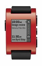 Pebble Smart Watch for iPhone and Android Devices (Red)