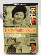 Hetty Wainthropp Investigates - Complete First Series (DVD, 2004) Very Good