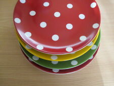 Pottery Barn Polka Dots Plate CHLOE 8.25 inch - Red Green Yellow  - Lovelynvin