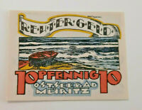 MÜRITZ REUTERGELD NOTGELD 10 PFENNIG 1922 NOTGELDSCHEIN (10709)