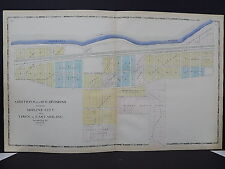 Illinois Rock Island County 1905 Plat Map Moline City & East Moline Double Sided
