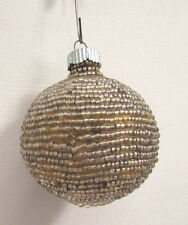 "Vintage 1930s 40s Beaded Christmas Ornament 2 1/4"" Diameter"