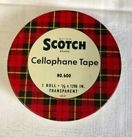 VTG Scotch Cellophane Tape No. 600  Tin And Tape Advertising