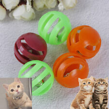 5pcs Funny Plastic Colorful Games Cat Toy Ball With Bell Inside Pets suppl Nmvg