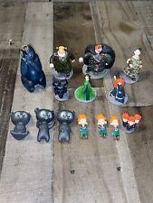 2012 Disney Pixar Brave Deluxe 10 Figures Disney Store Figurine Set Cake Toppers