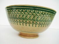 "Antique Polychrome Spongeware Bowl Porcelain Spatterware Pottery Collectible""013"