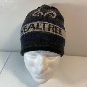 Realtree Knit Hat Grey Toboggan Beanie