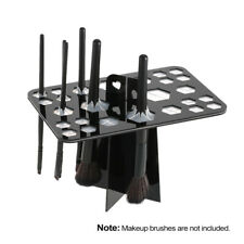 Black Firm Makeup Brush Tower Tree Air Drying Brush Holder 26 Hole Durable D6U0