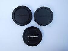 GENUINE ORIGINAL OLYMPUS BODY BC-1, REAR LENS LR-1, FRONT LENS LC-58C CAPS COVER