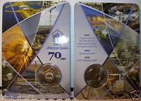 Subway token Russia jeton de métro 70 années de métro Saint-Pétersbourg UNC 2011