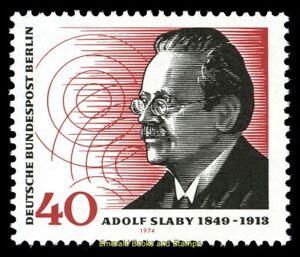 EBS Berlin 1974 - Adolf Slaby - Radio - Michel 467 MNH**