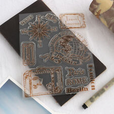Clear Silicone Stamp+Metal Cutting Dies Frame For Scrapbooking Album Paper DIY