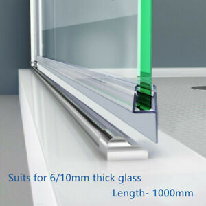 Shower Door PVC Water Seal Strip, Length:1000mm (Suit 6mm/10mm glass)  I