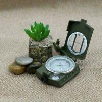 New Professional Military Army Metal Sighting Compass BEST Camping Hiking W5L7