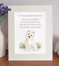 West Highland White Terrier Novelty Dog Poem Lovely 8 x 10 Picture Westie Print