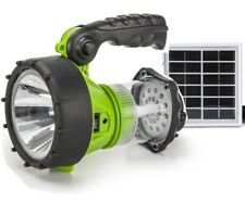 3W Solar Rechargeable Camping LED TORCH FLASHLIGHT SPOTLIGHT WORKING LIGHT NEW