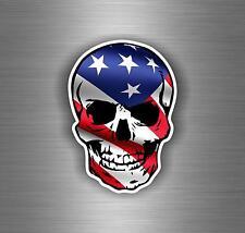 Adesivi adesivo sticker moto auto biker tuning skull teschio bandiera usa americ