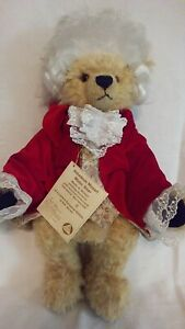 "NWT Limited Edition Hermann Spielwaren 16"" Amadeus Mozart Musical Teddy Bear"