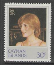 CAYMAN ISLANDS SG550w 1982 PRINCESS DIANA 30c WMK INVERTED MNH