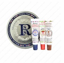 Rosebud Medley Lip Balm Tubes - Rosebud Salve Strawberry Mocha Rose Tin Can Set