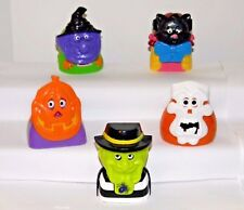 RONALD & PALS HAUNTED HALLOWEEN Candy Dispensers~1998 McDonald Toys # 1,2,3,4,6