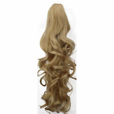 """22"""" PONYTAIL WAVY Honey Blonde REVERSIBLE Claw Clip"""