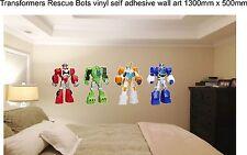 ADESIVI In Vinile Decalcomania bedrooml ART GRAPHIC KIDS Transformers Rescue Bots camera da letto