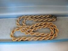 1980's Vintage 9ct GOLD Plated 17 Inch Long ROPE Chain Necklace Jewellery 31.3g