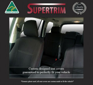 Waterproof Airbag safe Wetsuit seat cover fit Mitsubishi Mirage front pair black