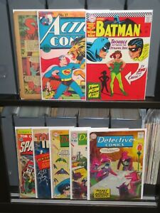 **Action Comics 27 Batman 181 DC244,254,273 + Impact 1 Space Cadet 1 Coverless**
