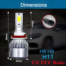 H8 H9 H11 Car COB LED HeadLight Bulb Pure White 6000K 12V/24V 1500W 225000LM NEW