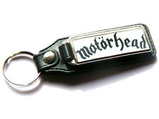 More details for motorhead heavy metal band large leather and chrome keyring