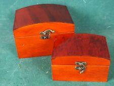 Set mit 2 Schmuckkästen Kassetten Schmuckschatullen Echt Holz, Mahagoni Farben
