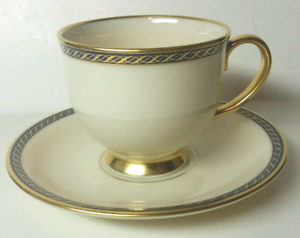 Lenox HAMILTON presidential Footed Cup with Saucer EXCELLENT 5 pieces of each