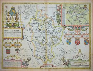 BEDFORDSHIRE DESCRIBED BY J. SPEED. GEORGE HUMBLE, C.1627.