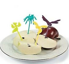 (6) PLASTIC BUG PICKS INSECT PARTY FAVOURS TOPPER DECORATION COCKTAIL PICKS