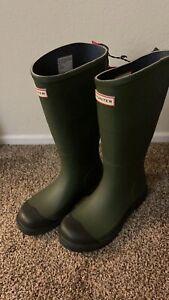 NEW HUNTER rain boots size 8 green Olive