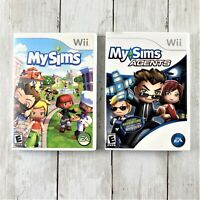 MySims 2006 & MySims Agents 2009 Nintendo WII Tested Complete!