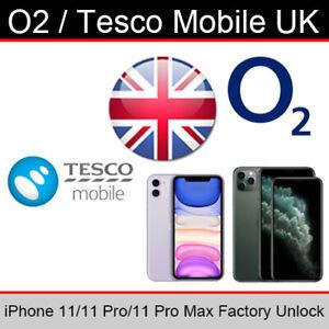 O2UK/Tesco Mobile iPhone 11/11 Pro/11 Pro Max Factory Unlocking Service