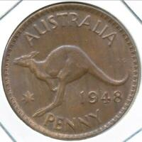 Australia 1948(m) One Penny 1d George VI - Uncirculated