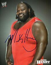 WWE SIGNED WRESTLING PROMO PHOTO MARK HENRY WITH COA