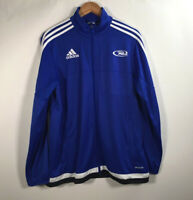 Vintage Men's Size M Adidas Climacool three stripes Track Blue Jacket R Logo