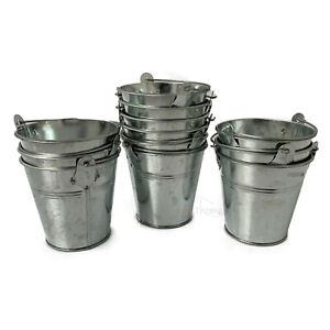 Galvanised Zinc Metal Garden Flower Herb Seed Pot Planter Tub Vase Bucket Sets