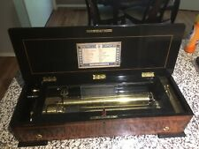Antique Swiss Grand B.A. Bremond Restored Music Box 12 Songs/Aires