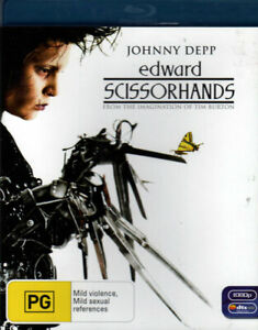 Edward Scissorhands - Johnny Depp, Winona Ryder, Tim Burton - Mint Blu-ray