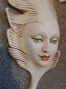 Venetian Wall Mounted Mask, Face HANDMADE