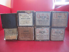 LOT of 8 QRS Temporized Animatic Themodist Vintage Player Piano Word Rolls