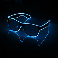 LED Light Up Sunglasses Shades Flashing Blink Glow Glasses Party Rave 6 Colors