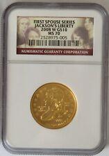 2008 W JACKSON LIBERTY FIRST SPOUSE GOLD COIN NGC MS70  - EBUCKS